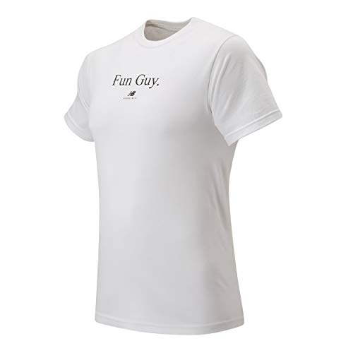 New Balance Fun Guy Tee, White/Black, Medium
