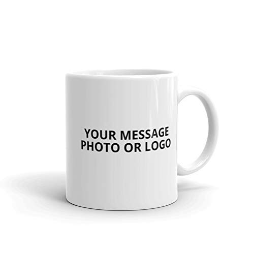 (Personalized Coffee Mug - Add logos, photos and/or texts to our Custom Ceramic 11 oz Mugs BPA-free, Microwaveable & Top Shelf Dishwasher Safe.)