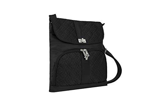Travelon Anti-Theft Flap Front Shoulder Bag, Black, One Size -