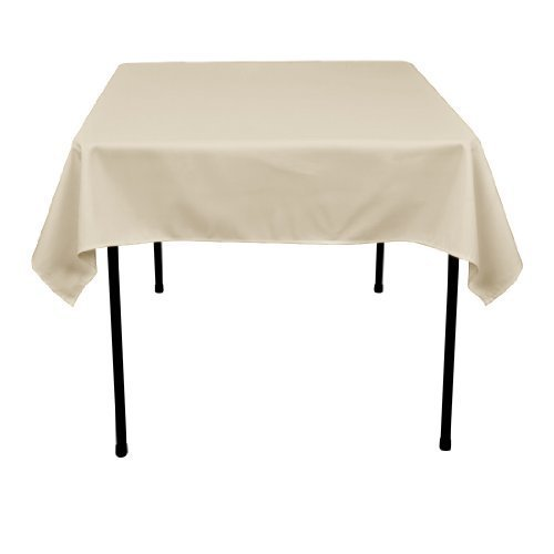 LinenTablecloth 54-Inch Square Polyester Tablecloth Peach ()