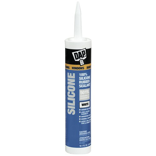 Dap 08641 12 Pack 9.8 oz. Window and Door Silicone Rubber Sealant, Clear Dap Inc