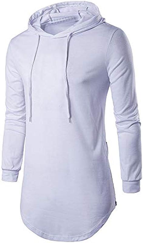 Buby męska bluza hipsterska hipsterska Hip Hop z długim rękawem Longline bluza z kapturem bluza z bocznym zamkiem błyskawicznym sweter z kapturem sweter cardigans Jumper odzież sportowa: Odzież