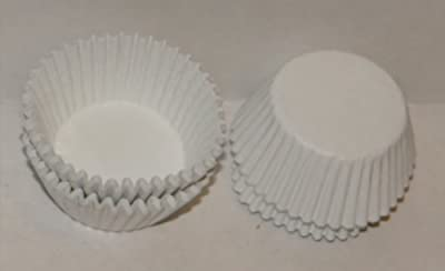 #5 White Paper Candy Cup Cups 250 Pack Candy Making Supplies