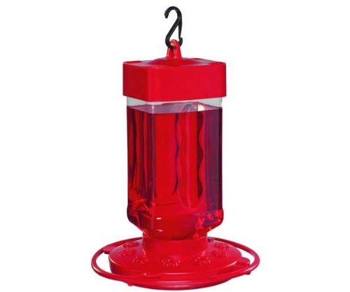 First Nature 3055 32-ounce Hummingbird - Feeder Plastic Hummingbird