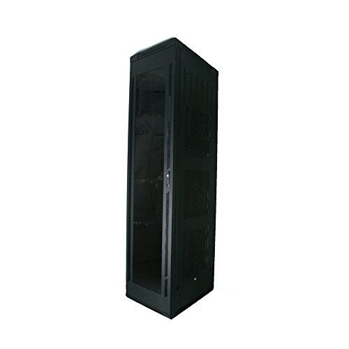Quest Manufacturing Floor Enclosure Server Cabinet, Acrylic Door, 42 Unit, 6' x 23