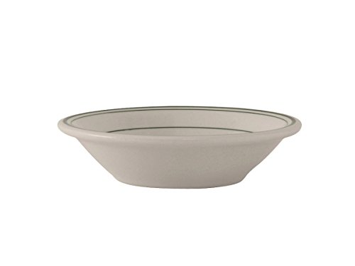 Tuxton TGB-010 Vitrified China Green Bay Grapefruit Bowl, 11 oz, 6-5/8