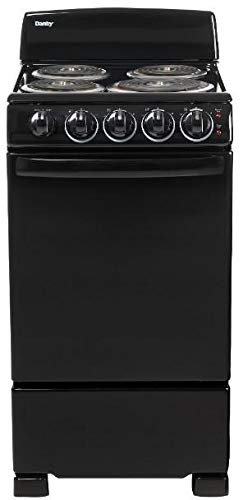 Danby 20-in. Electric Range with Coil Elements and 2.3-Cu. Ft. Oven Capacity in Black