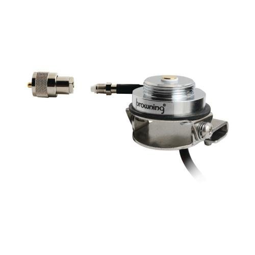 1 - Browning BR-1024-UHF Adjustable NMO Trunk Mount, Adjusts mount for uneven surfaces, Stainless steel mount, BR-1024-UHFE