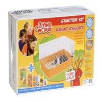 Living World Rabbit Resort Starter Kit (Rabbit Starter Kit Cage)