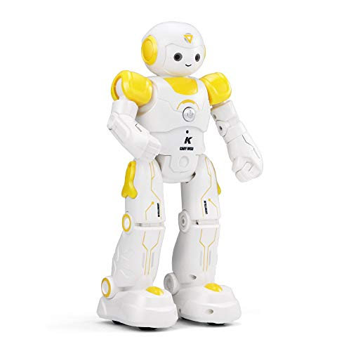 Miklan Kids Remote Control Robot Toy, Intelligent JJRC R12 Remote Control Programmable Song/ Dance RC Robot Toy Fun Robotic Birthday Gifts for Kids (Yellow)