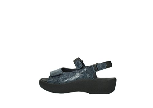 Sandals 70820 Denim Womens 3204 Leather Jewel Canals Wolky Txvpqf7
