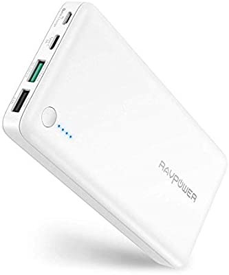RAVPower - Cargador portátil USB C con batería QC 3.0 ...
