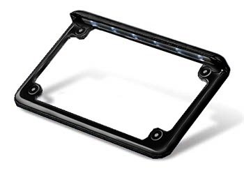 led motorcycle black powdercoat license plate frame