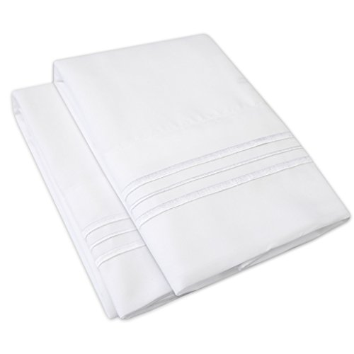 1500 Supreme Collection Pillowcase - Standard, 2 Count, Whit
