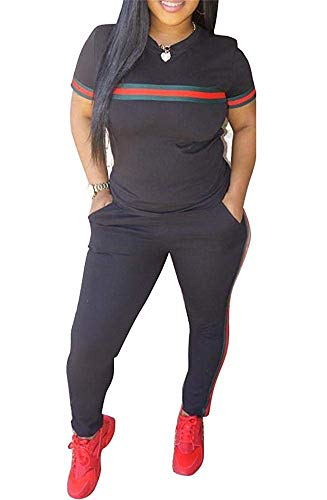 Women's Athletic Full Zip Jogging Sports Tracksuit Casual Sweat Suit -