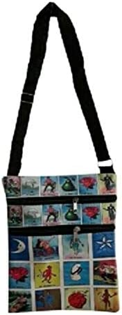 Loteria Mexican Lottery Cross Body Messenger Hipster Bags Purses 1 Pc (HB86)