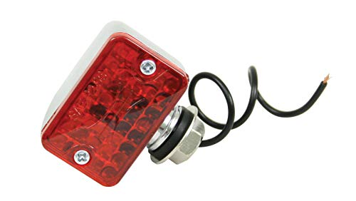 Micro Lights Tail Mini - Empi 9330 Single Filament Micro Tail Light With Red Lens & Chrome Housing, Each
