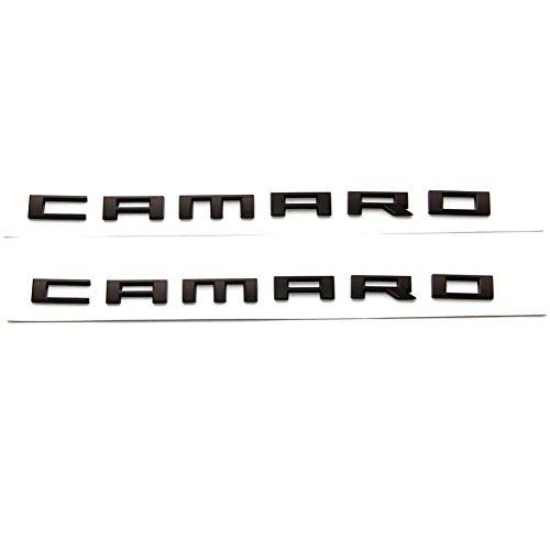 Yoaoo 2x OEM CAMARO Letter Emblem 3D Badge RS SS ZL1 Z28 Chevy Matte (Camaro Z28 Fender)