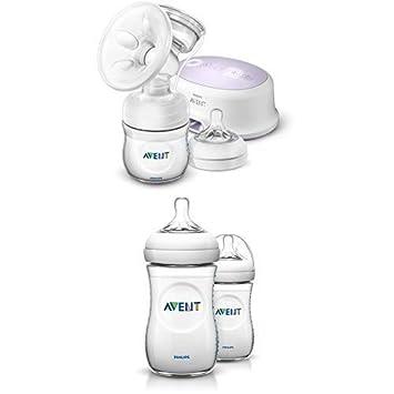 Philips Avent SCF332//31 Elektrische Komfort-Einzelmilchpumpe Naturnah-Flasche inkl wei/ß