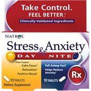 Natrol Stress and Anxiety - Day and Night Tablets, 60-Count