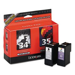 (LEXMARK ink cartridge no. 34/35 combo pack)