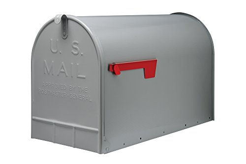 Gibraltar Stanley  (ST200000) Post Mount Jumbo Mailbox, Galvanized Steel - Silver - Copper Mailbox Hammered