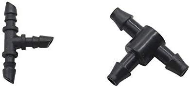 3ミリメートル20枚、4ミリメートルホースティーバーブコネクタ灌漑配管パイプ継手T字型チューブアダプタホースジョイント3ウェイスプリッタ20個 (サイズ : Connect 3mm hose)