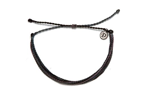 Pura Vida Midnight Thunder Bracelet - 100% Waterproof, Wax-Coated - with Iron-Coated Copper Charm