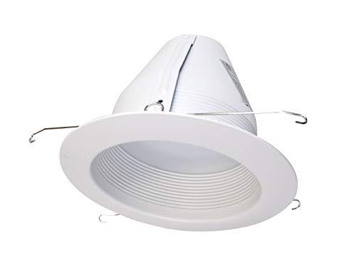 NICOR Lighting 6-Inch Airtight Cone Baffle Trim, White (17548A) ()