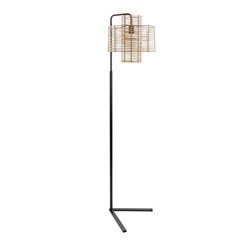 Basket Floor Lamp - Silverwood CPLF1267E Floor Lamp, Black and Tan