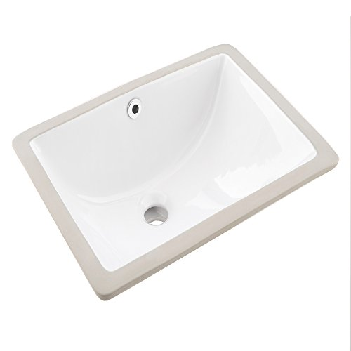 VAPSINT Rectangular Porcelain Bathroom Overflow