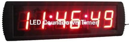 Hanchen LED Countdown Timer 3'' Digital HH:MM:SS Countdown Race Clock Multi-Function Clock/Timer for Sport Timing Marathon Running