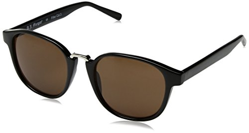 A.J. Morgan Maximus Round Sunglasses, Black, 52 mm