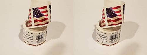 USPS Forever Flag Stamps Roll of 100 (Stamp Design May Vary), Pack 2