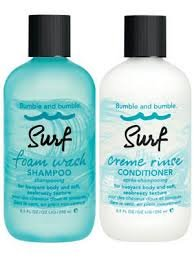 - Bumble and Bumble Surf Foam Wash Shampoo 8.5oz and Surf Creme Rinse Conditioner 8.5oz