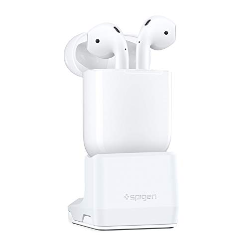 Spigen S313 Designed for Airpods Stand Charging Dock for Airpods 1 & 2 [Compatible with Original Apple Cable ONLY] [NOT Compatible with Silicone Cases]