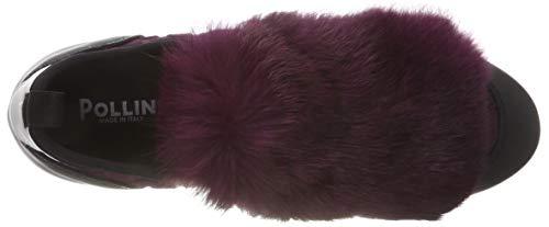 Time Sneaker Pollini Donna burgundy Running 55a Violett Slip black on 5HqHI4wO