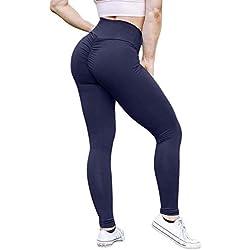 KIWI RATA Women Scrunch Butt Yoga Pants Leggings High Waist Waistband Workout Sport Fitness Gym Tights Push Up