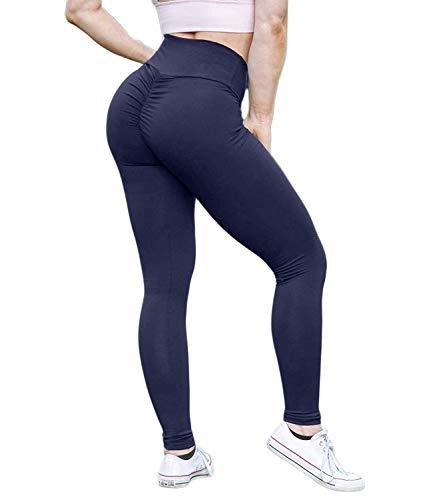 (KIWI RATA Women Scrunch Butt Yoga Pants Leggings High Waist Waistband Workout Sport Fitness Gym Tights Push Up)