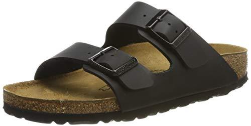 Birkenstock Women's Arizona 2 Strap Soft Cork Footbed Sandal Black 37 M EU (Birkenstock Arizona Black Leather Two Strap Sandals)