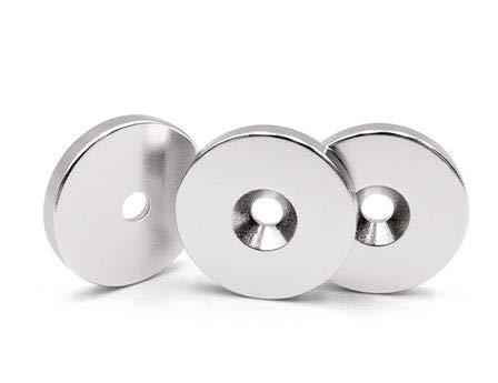 Lot de 10 anneaux aimant/és /Ø 20 x 4 mm 4,5 mm Nord N45 8 kg