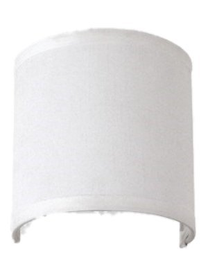 Upgradelights 6 inch Clip On Wall Sconce Shield Half Lampshade 6x6x5 (White)