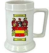 Crumpton Family Crest Stein / Crumpton Coat of Arms Stein