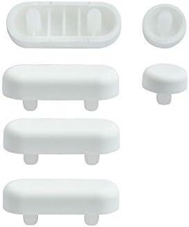 SITZPLATZ® WC-Sitz-Puffer Nr. 1   Auflagestopfen für Toilettensitz   Abstandhalter für WC-Brille   Dämpfer   Weiß   Kunststoff
