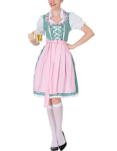 Women's 3 Pcs German Dirndl Dress Costumes for