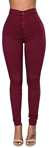 Lápiz Vaqueros Ropa Pantalones Botones Alta De Cintura Winered Las Pitillo Sólido Mujeres Estiramiento Adelina Jeans Color Casuales Leggings 8wqB5axd8