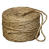 Natural Jute Twine - 285 ft Roll-Bag of 12