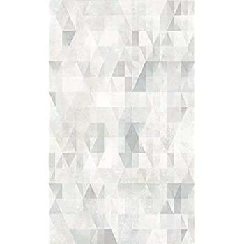 Grey Blue White Modern Scandi Geometric Triangle Wallpaper Arthouse 908205