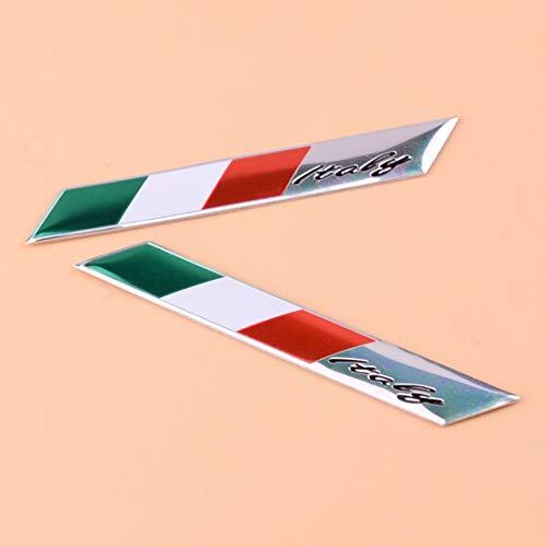 Daphot-Store - New 2Pcs 3D Aluminum Italy Flag Fender Trunk Emblem Badge Sticker Fit for Alfa Romeo FIAT Car Styling Accessories