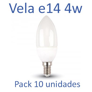 Bombilla LED Vela E14 4w 4000ºk (luz neutra) [Pack 10 Unidades]: Amazon.es: Iluminación